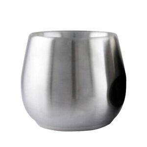 Bicchiere da viaggio in acciaio inox calici senza vuoto