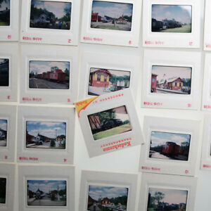 Lot-19-Original-Train-Slides-Kodak-Kodachrome-Railroad-Locomotive-1971