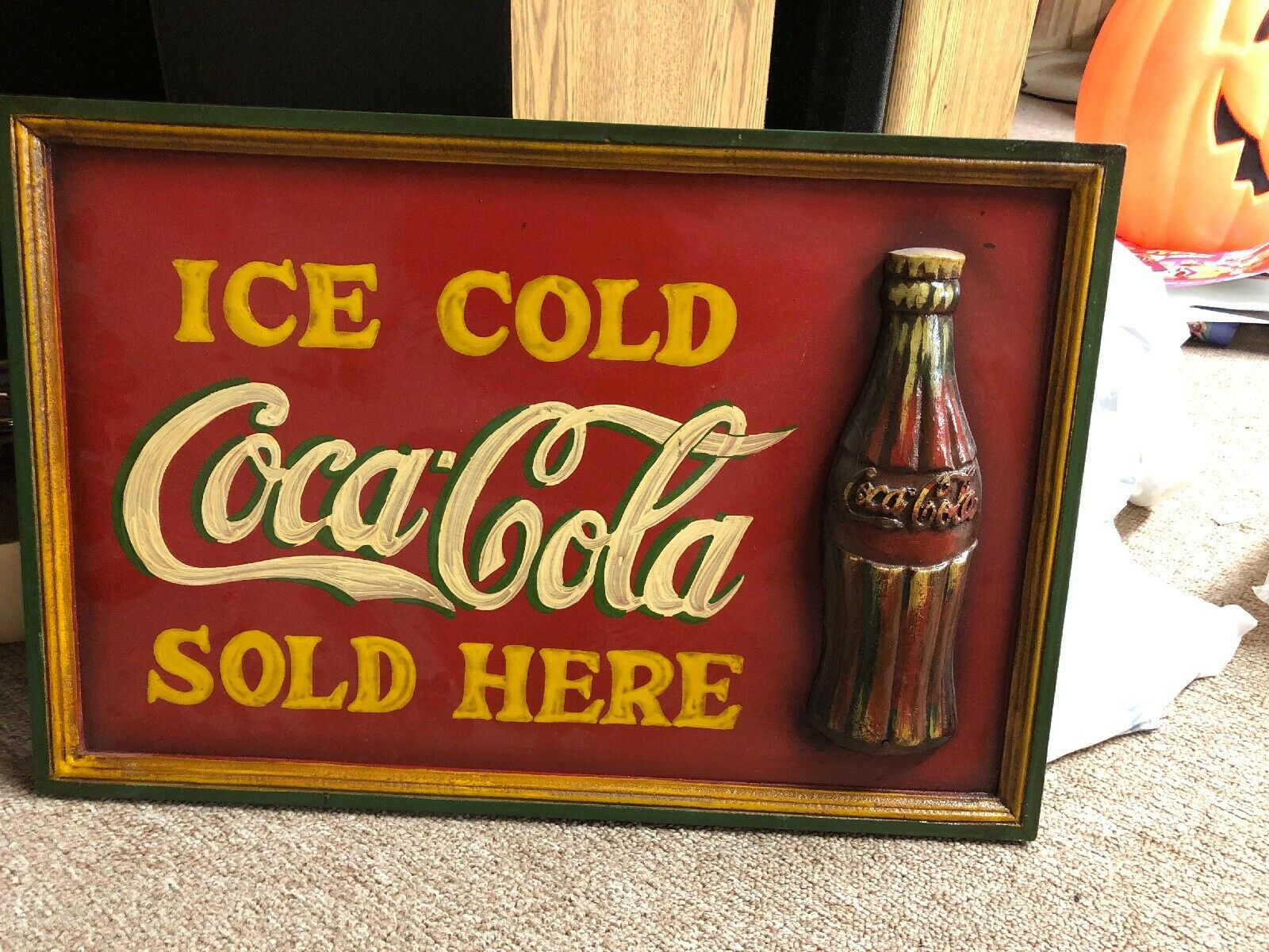 Hand Painted Coca Cola Wooden 2 Step Stool Beach Light House Theme Decor For Sale Online Ebay