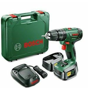 Bosch 18V 1.5Ah Li-ion Cordless Combi drill 2 batteries PSB 1800 LI 2 New