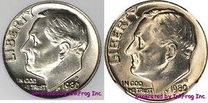 1980-P-amp-D-Roosevelt-Dime-pair-Choice-Gem-Bu-From-Mint-Sets