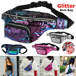 3f341f80e8f3 Details about Women Glitter Bum Bag Waist Festival Money Wallet Belt Travel  Pouch Fanny Pack.