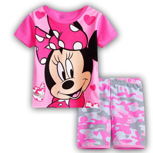 Kids Boys Girls Child Christmas Minnie Mouse Pyjamas Pjs Character Nightwear Set