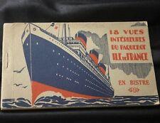 CGT FRENCH LINE SS ILE DE FRANCE 18 Postcard Book