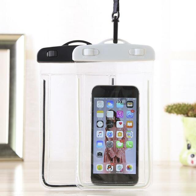 meet 1933f 647c9 Waterproof Underwater Swim Phone Dry Bag Pouch Case Cover For iPhone Huawei  Asus