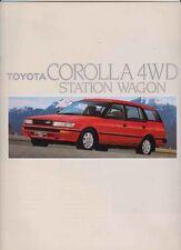 1988 TOYOTA AE94 COROLLA 4WD STATION WAGON International Brochure SR5 & XL