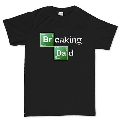 Breaking Dad Bad - Father's Day Gift Daddy Heisenberg T shirt Tee Top T-shirt