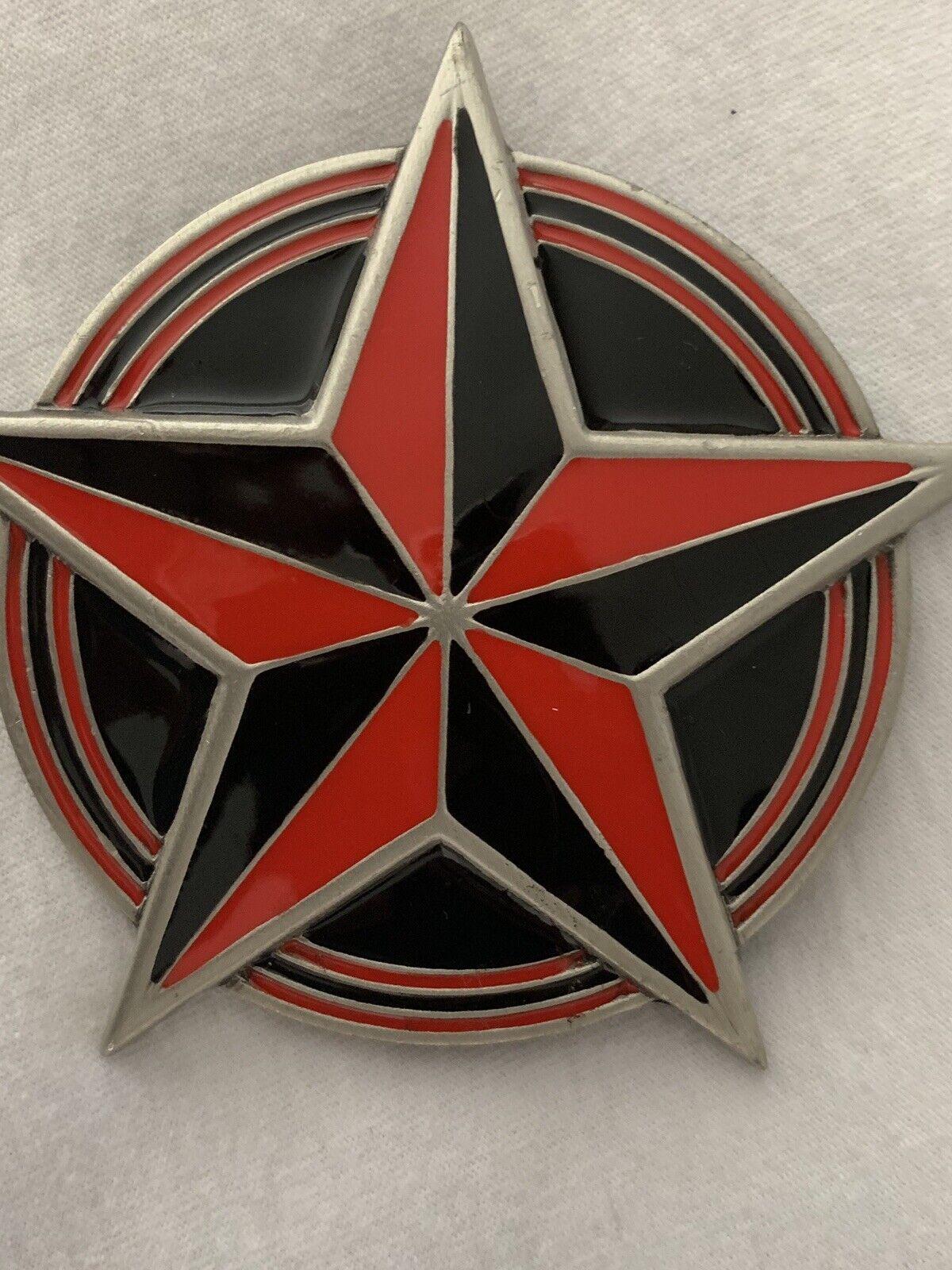 Rojo Negro Estrella Náutica Hebilla de cinturón