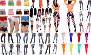 Wholesale-Lot-40-Pcs-WOMEN-Mixed-Jeans-Legging-Pants-Shorts-Skirts-Apparel-S-M-L