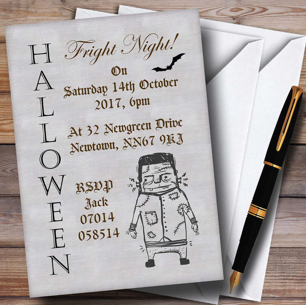 Zombie Zombie Zombie fright night personnalisé halloween party invitations efdfd0