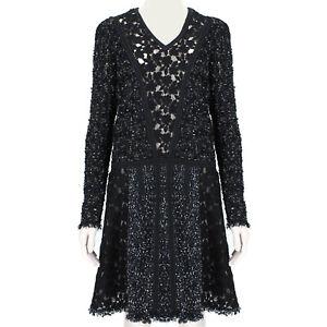 Giambattista Valli Black Tweed & Lace Dress IT40 UK8