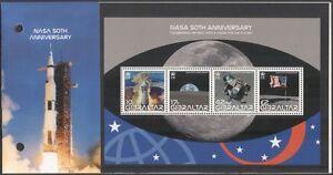 Gibilterra-2008-NASA-spazio-Apollo-11-razzi-Atterraggio-sulla-Luna-4v-M-S-Pres-Pack-s6392g