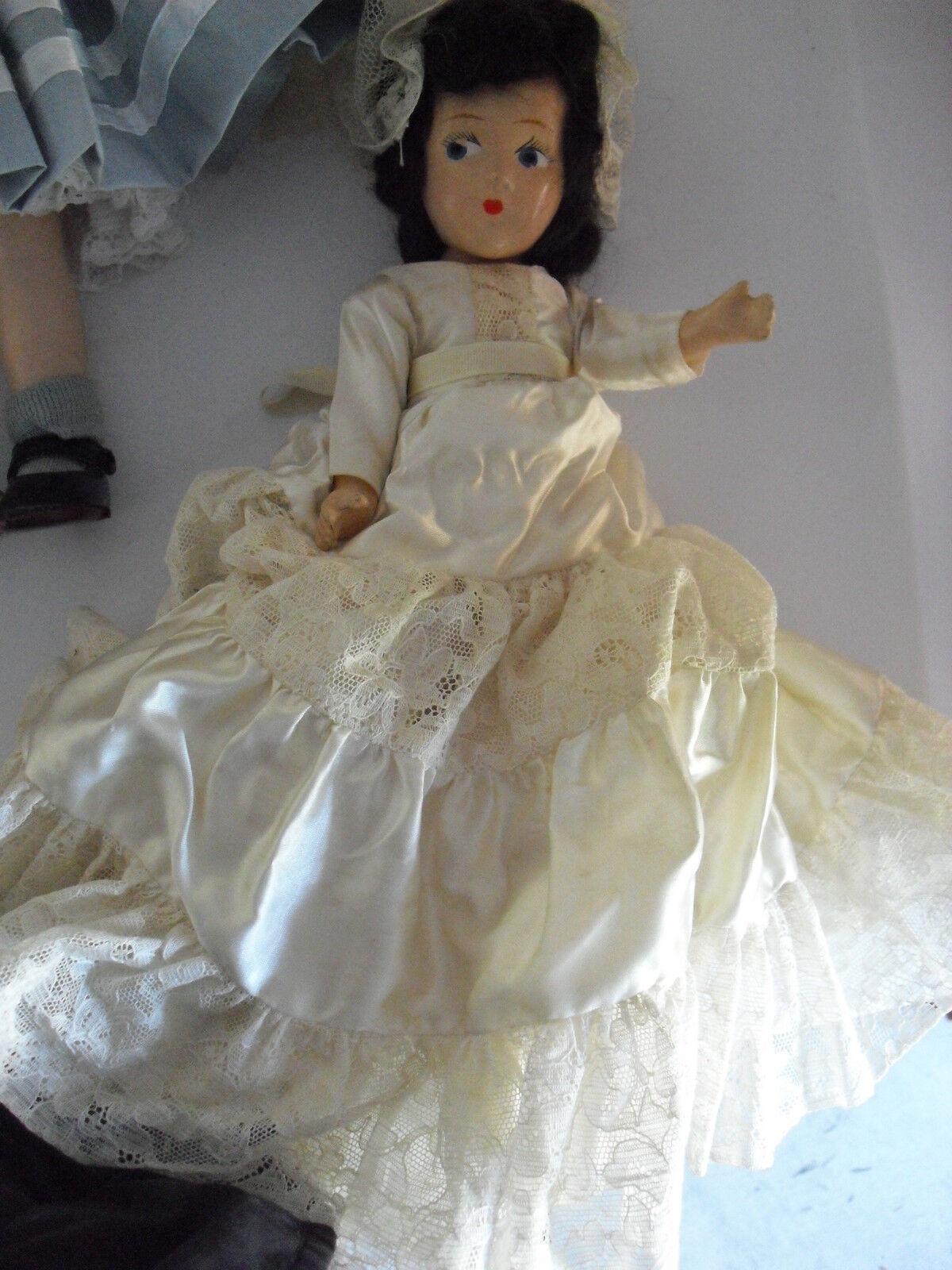 Antique  Composition Bride Character Girl bambola 11  Ttutti  prendiamo i clienti come nostro dio