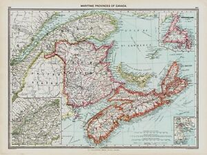 Maritime Provinces Of Canada Old Map In EBay - Old map of canada