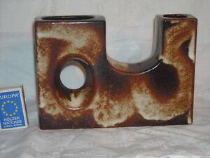 60-70er-Design-VEST-Keramik-Niederlande-LOCHVASE-gross-quadratisch