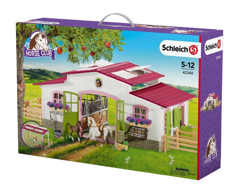 Schleich    reiterhof horse club 42344 mit reiterin und pferden  neu + ovp