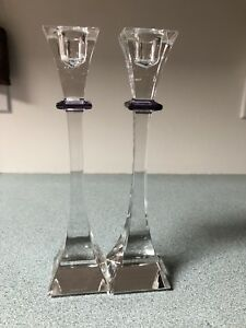 Nachtmann Crystal Candlestick Holders