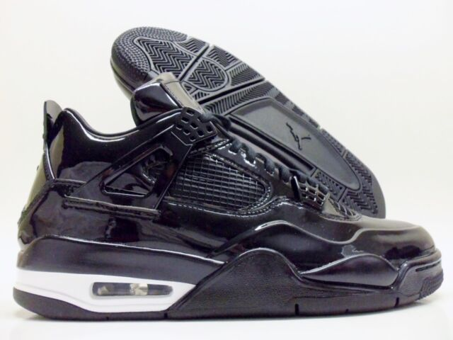 c174deb3904d8b Nike Air Jordan IV 4 Retro 11lab4 Black Patent Leather 719864-010 ...