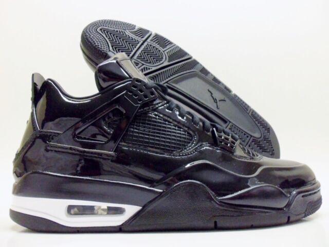 ebc18a12891e20 Nike Air Jordan IV 4 Retro 11lab4 Black Patent Leather 719864-010 ...