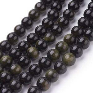 lot-de-30-perles-6-mm-obsidienne-doree-gemme-naturel