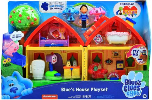 Blue/'s Clues /& You Blue/'s House Playset 13 Pieces Toy NEW 2020