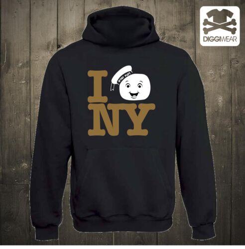 I DESTROY NYMARSHMALLOW MANN NEW YORK GHOSTBUSTERS HOODIE XS XXXL