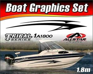 Boat Graphic Sticker Kit Vinyl Stripe Decal For Marine Or - Boat decals and stripes   easy removal
