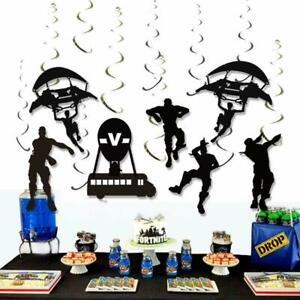 Details About Fortnite Video Games Remolinos Colgantes Decoraciones Para Cumpleaños De Niños