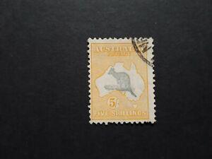 Australia STAMP 1932 5/- Kangaroo  SG 135