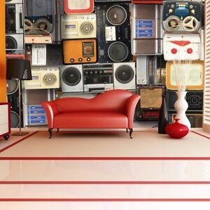 Retro Musik Wandbild Vintage Kassetten Foto Tapete Schlafzimmer Haus