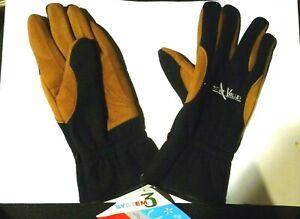 Gants-chaud-cuir-polaire-039-Owens-Valley-039-noir-marron-Taille-L-20-x-10-5-cm