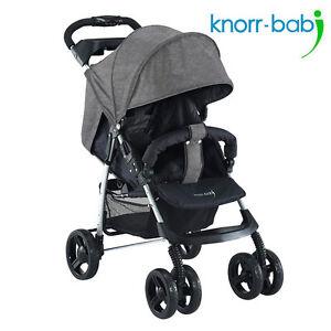 Knorr-Baby-Buggy-Sportwagen-V-Easy-Fold-Melange-Grau-Neu-Baby-Kind-Kinder