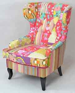 Ohrenbackensessel Ohrensessel Patchworksessel Loungesessel
