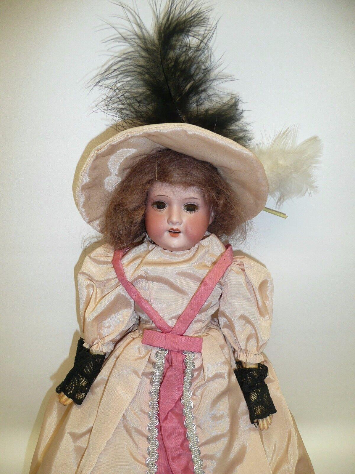 15  Antique AM 370 6 Geruomo bambola w Marronee  Sleep Eyes  nelle promozioni dello stadio