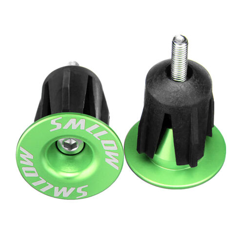 2pcs Aluminum Alloy Bicycle Handlebar Plugs Grip Caps End Plugs M4 22-24mm