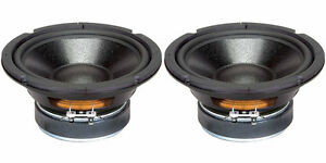 NEW-2-6-5-034-Woofer-Speakers-Replacement-8-ohm-Home-Audio-Driver-6-1-2-034-Pair