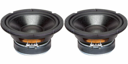 """2 6.5/"""" Woofer Speakers.Replacement.8 ohm.Home Audio Driver.6-1//2/"""" Pair. NEW"""