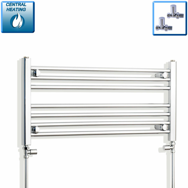 400 mm haut 700 mm Large Chrome Sèche-Serviettes Radiateur Salle de bains Plat & Courbé