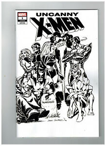 UNCANNY-X-MEN-1-1st-Printing-Dave-Cockrum-B-amp-W-Variant-2019-Marvel-Comics