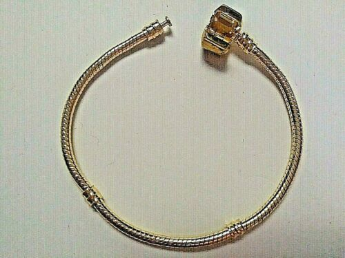 GOLD COLOUR SNAKE CHAIN BRACELETS WITH BOX SNAP CLASP 21 cm 3 for £2.99