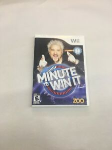 Minute-to-Win-It-Nintendo-Wii-2010-Manual-Case-And-Game