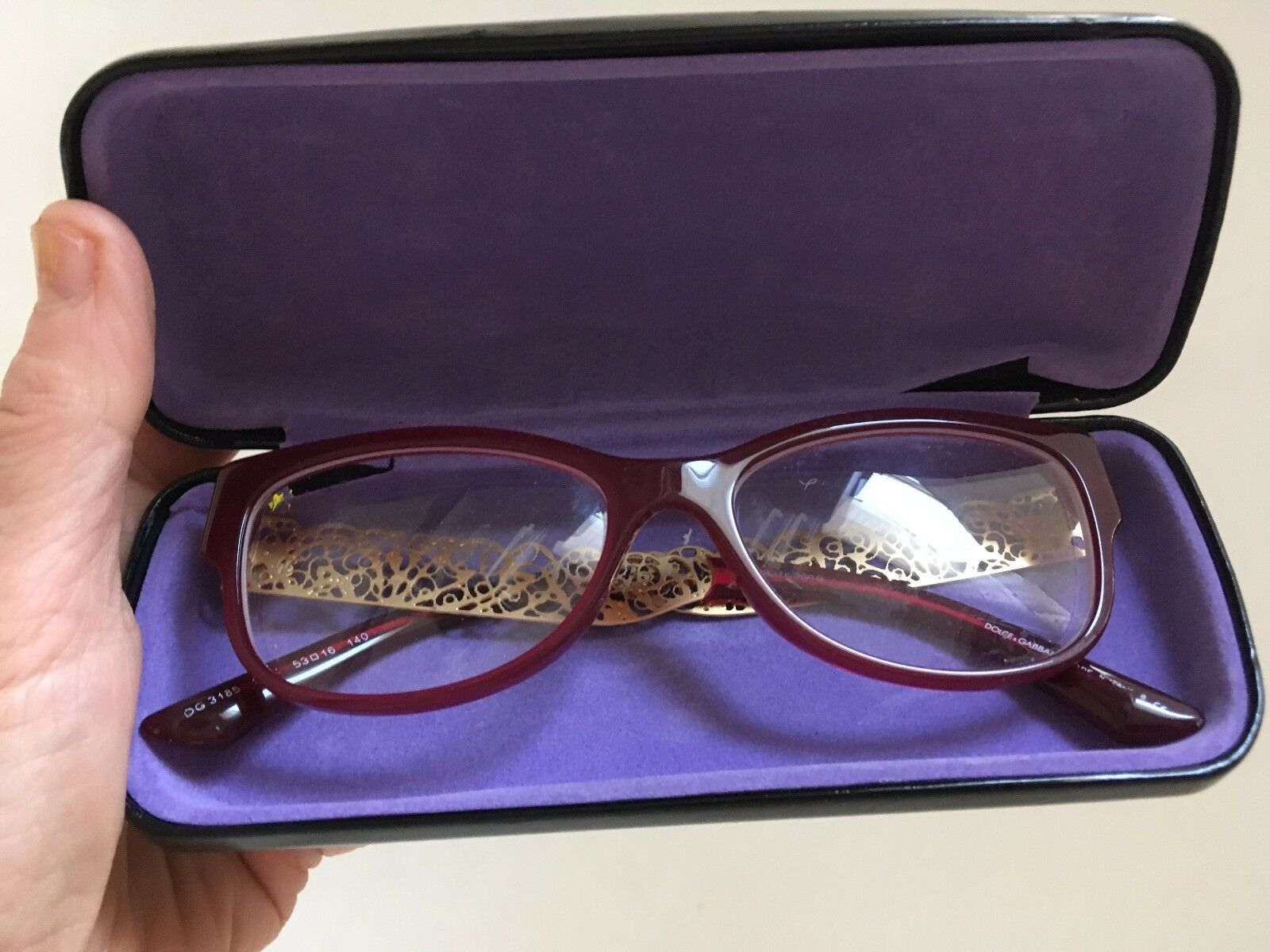 DOLCE and GABBANA Imported Womens Designer Glasses with DG Case