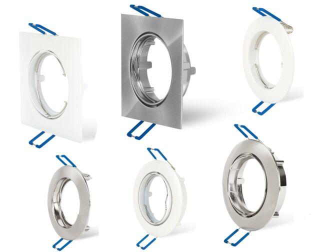 LED Einbaurahmen Schwenkbar Einbau Strahler GU10 5W Decken Spots Rahmen Gehäuse