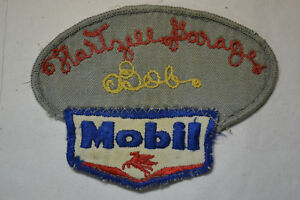 Vintage-Rare-Hartzill-Mobil-Gas-Oil-Garage-Patch-Badge-Collectible-Clothing-BOB