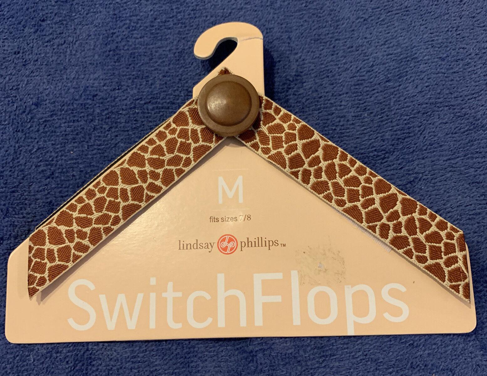 Lindsay Phillips Switchflops Straps, Style Sheila, Size Medium 7/8