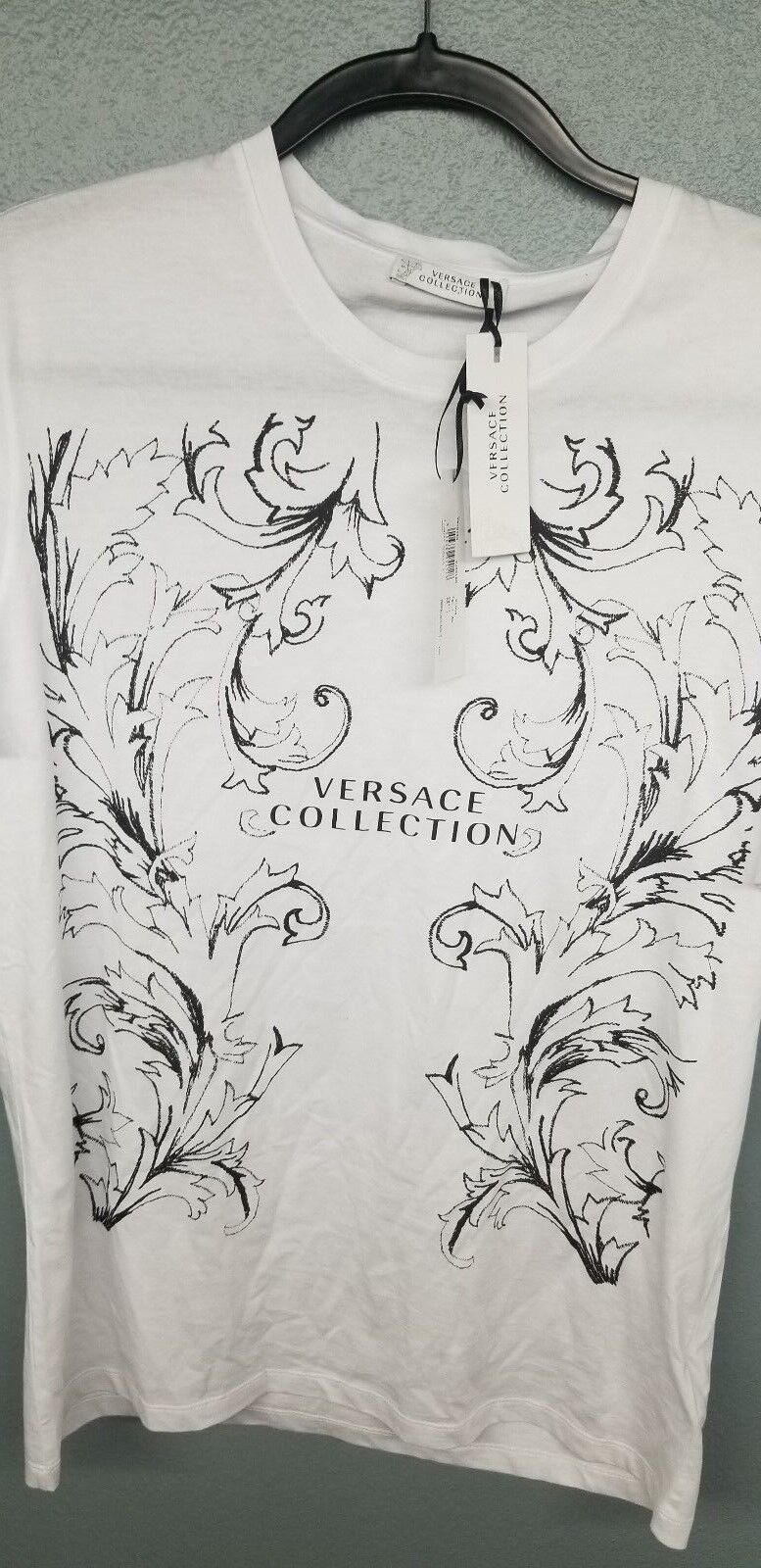 Versace collection white logo shirt