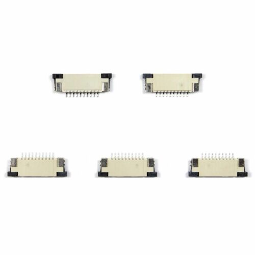 10 Pin 0.5mm 1mm Pitch FFC//FPC Flexible Flat Cable ZIF Connector Top Contact