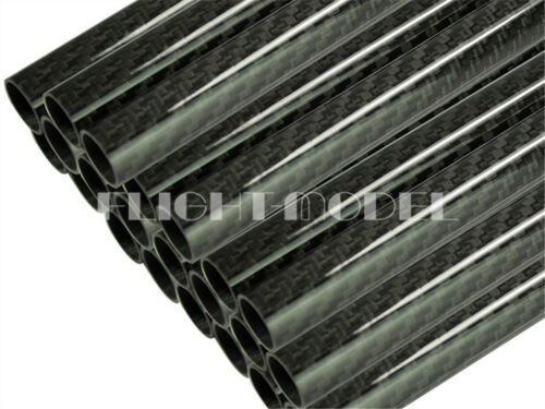 1pc 3K Carbon Fiber Tube Pipe Roll OD30mm ID28mm Length500mm Glossy Surface