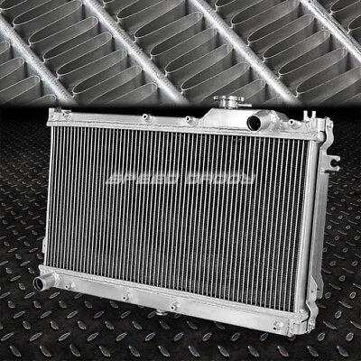 2-Row Dual Core Full Aluminum Racing Radiator Bolt-On For 90-97 Mazda Miata Mx5