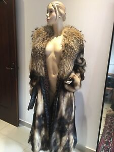 PELLICCIA-CAPPOTTO-DONNA-42-Lunga-Murmasky-Long-Real-FUR-COAT-Women